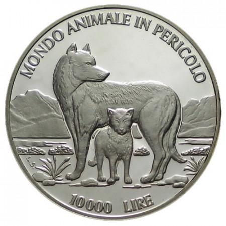 """1996 * 10.000 Lire Argento San Marino """"Animali in Via di Estinzione"""" (KM 341) PROOF"""