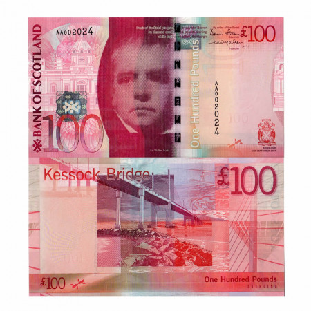 2007 * Banconota Scozia 100 pound FDS
