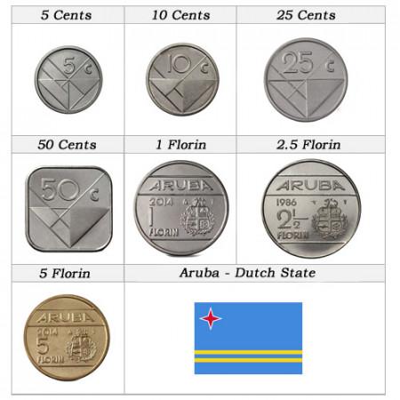Anni Misti * Serie 7 Monete Aruba