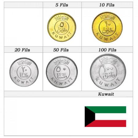 Anni Misti * Serie 5 monete Kuwait