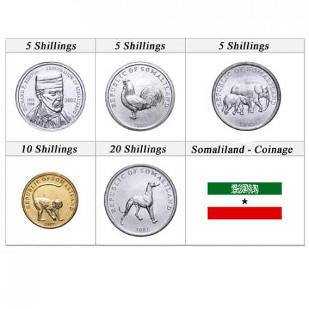 Anni Misti * Serie 5 monete Somaliland scellini