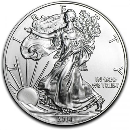 "2014 * 1 Dollaro Argento 1 OZ Stati Uniti ""Liberty - Silver Eagle"" FDC"