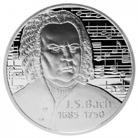 "2010 * Troy Ounce 1 OZ Oncia Argento ""LEV - Bach with Notes"" FDC"