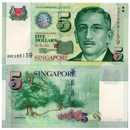 "ND (1999) * Banconota Singapore 5 Dollars ""President Yusuf Bin Ishak"" (p39) FDS"