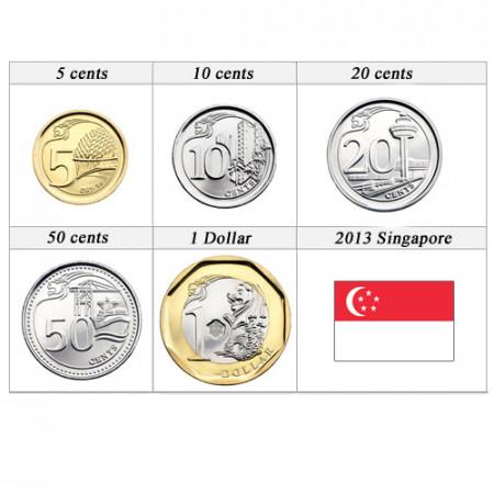 2013 * Serie 5 monete Singapore