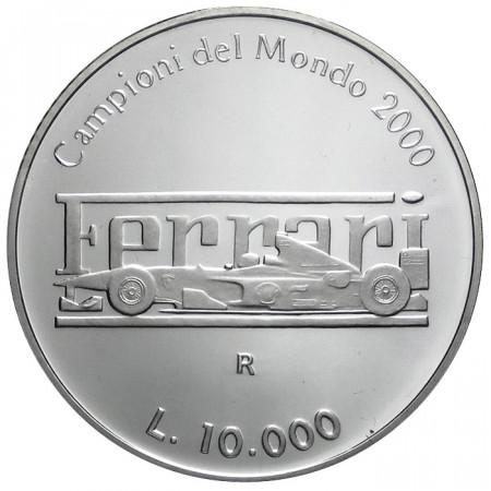 2001 * 10000 lire San Marino argento proof Ferrari campione del mondo 2000