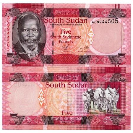 ND (2011) * Banconota Sudan del Sud 5 Pounds (p6) FDS