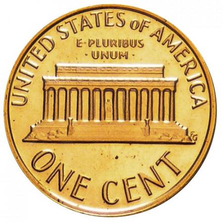 """1976 S * 1 Centesimo di Dollaro Stati Uniti """"Lincoln Memorial"""" (KM 201) PROOF"""
