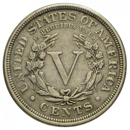 """1883 * 5 Cents Stati Uniti """"Liberty Nickel"""" (KM 112) BB+"""