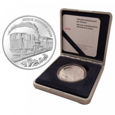 "2009 * 20 Francs Argento Svizzera ""Brienz-Rothorn Railway"" (KM 131) PROOF"