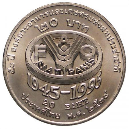 "BE 2538 (1995) * 20 Baht Thailandia ""Serie F.A.O."""