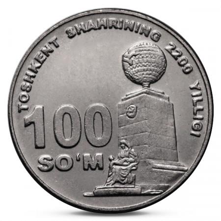 2009 * 100 Som Uzbekistan - 2200 anniversario di Tashkent
