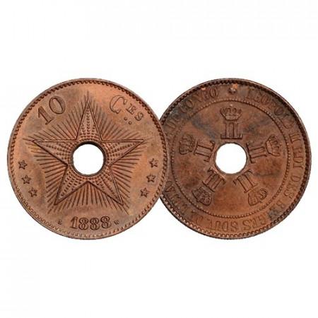 "1888 * 10 Centimes Congo Belga ""Leopoldo II - Free State"" (KM 4) FDC"