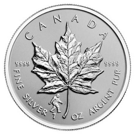 "2016 * 5 Dollari Argento 1 OZ Foglia Acero Canada ""Bigfoot"" Privy Mark"