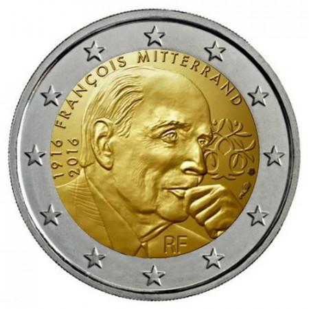 "2016 * 2 Euro FRANCIA ""100° Nascita di François Mitterrand"" UNC"
