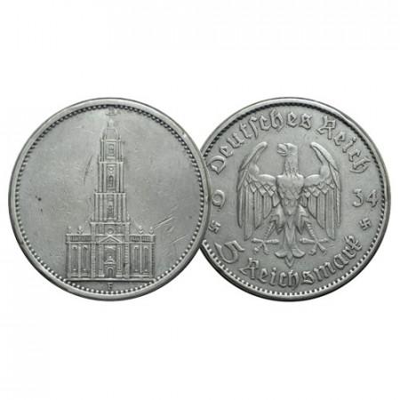"1934 F * 5 Reichsmark Argento GERMANIA ""Terzo Reich - Regole Naziste"" (KM 83) BB"