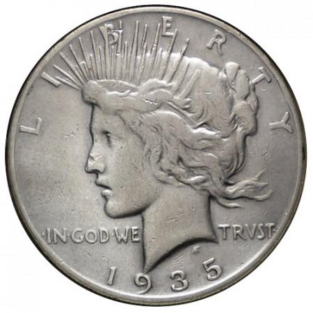"1935 S * 1 Dollaro Argento Stati Uniti ""Peace"" San Francisco – 3 Ray (KM 150) qBB"