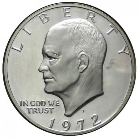 "1972 S * 1 Dollaro Argento Stati Uniti ""Eisenhower"" San Francisco (KM 203a) PROOF"