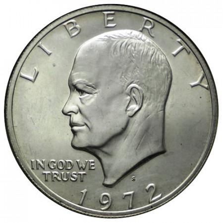 "1972 S * 1 Dollaro Argento Stati Uniti ""Eisenhower"" San Francisco (KM 203a) FDC"