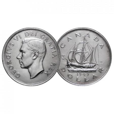 """1949 * 1 Dollaro Argento Canada """"Giorgio VI - Newfoundland"""" (KM 47) SPL+"""