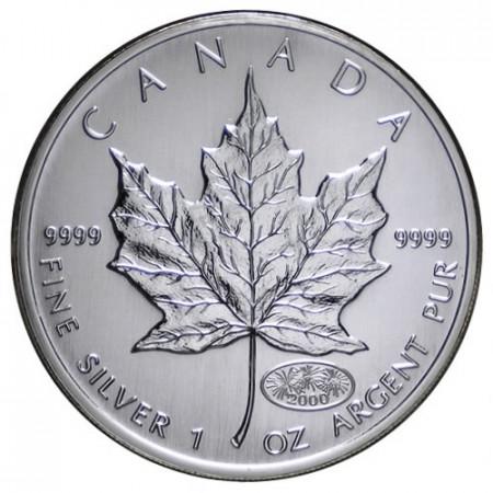 "2000 * 5 Dollars Argento 1 OZ Canada ""Foglia Acero - Maple Leaf - Fireworks"" FDC"