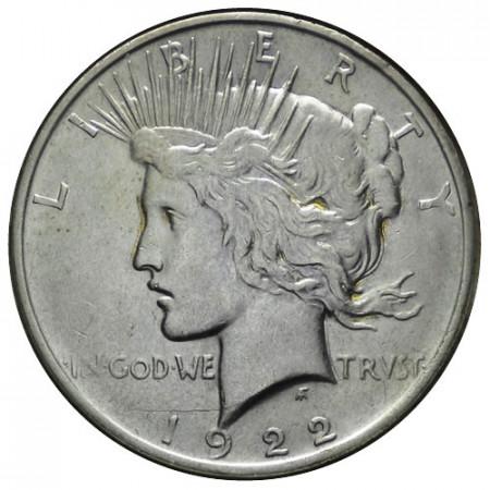 """1922 D * 1 Dollaro Argento Stati Uniti """"Peace"""" Denver (KM 150) BB+"""