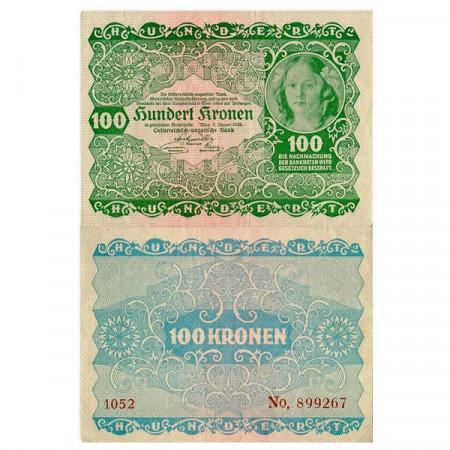 "1922 * Banconota Austria 100 Kronen ""Princess Rohan"" (p77) SPL"