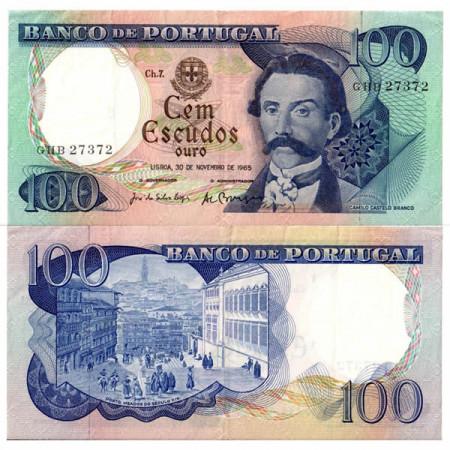 "1965 * Banconota Portogallo 100 Escudos ""Camilo Castelo Branco"" (p169a) BB"