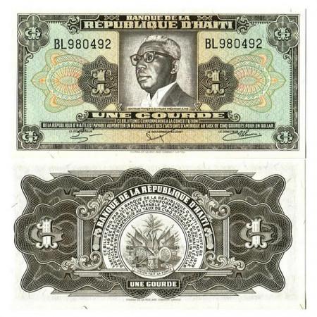 "L.1979 (1984) * Banconota Haiti 1 Gourde ""Duvalier"" (p239) FDS"