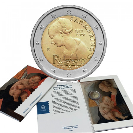 "2020 * 2 Euro SAN MARINO ""500º Morte Raffaello Sanzio"" FDC"