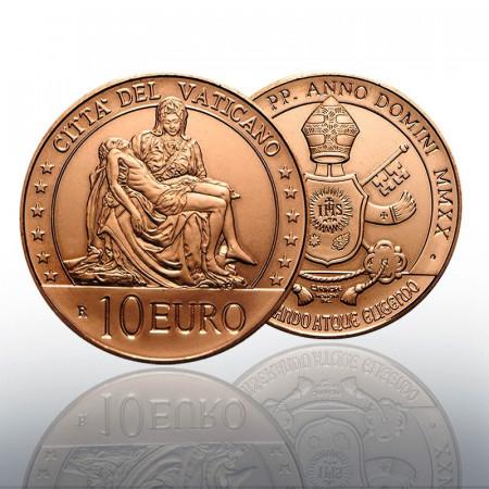 """2020 * 10 Euro Rame VATICANO """"Arte e Fede: la Pietà di Michelangelo"""" FDC"""