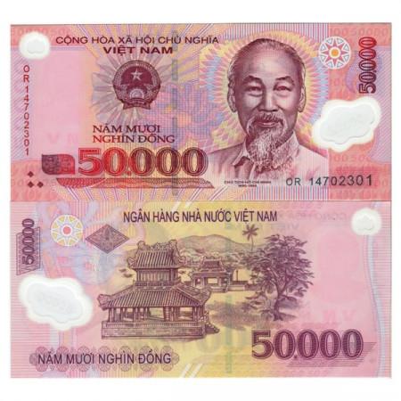 "2014 * Banconota Polimera Vietnam 50.000 Dong ""Ho Chi Minh"" (p121l) FDS"