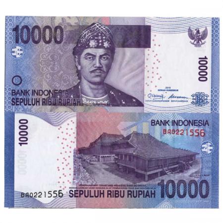 """2010 * Banconota Indonesia 10.000 Rupiah """"Sultan Badaruddun"""" (p150a) FDS"""