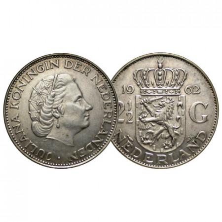 "1962 * 2-1/2 (2,5) Gulden Argento Olanda - Paesi Bassi ""Juliana"" (KM 185) BB+"