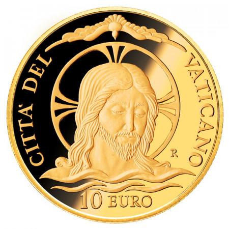 """2020 * 10 Euro Oro VATICANO """"Papa Francesco - Sacramento del Battesimo"""" PROOF"""