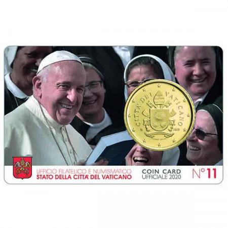 """2020 * Coincard VATICANO 50 Centesimi """"Papa Francesco"""" N.11"""