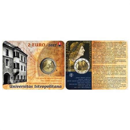 "2017 * 2 Euro SLOVACCHIA ""Accademia Istropolitana"" Coincard"
