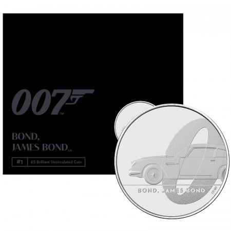 "2020 * 5 Pounds Gran Bretagna ""007 James Bond - Aston Martin DB5"" FDC"
