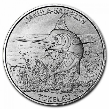 "2016 * 5 Dollari Argento 1 OZ Tokelau ""Hakula Sailfish"" FDC"