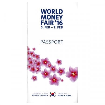 """2016 * Passport World Money Fair """"Republic of Korea Mint"""""""