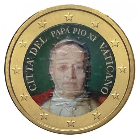 """ND (2019) * 50 Centesimi VATICANO """"Papa Pio XI"""" Colorato"""