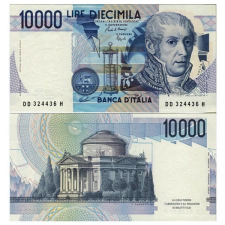 "1989 D * Banconota Italia Repubblica 10.000 Lire ""A Volta"" BI.871 (p112b) FDS"