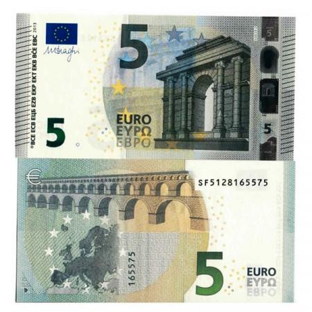 """2013 S * Banconota Italia Unione Europea 5 Euro """"Tipo 2 – Draghi"""" (S002) FDS"""