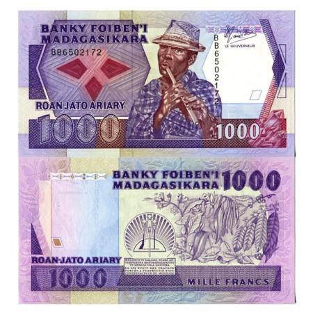 "ND (1988-93) * Banconota Madagascar 1000 Francs = 200 Ariary ""Rakoto Frah"" (72a) FDS"