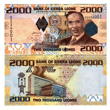 "2010 * Banconota Sierra Leone 2000 Leones ""Isaac Wallace-Johnson"" (p31) FDS"