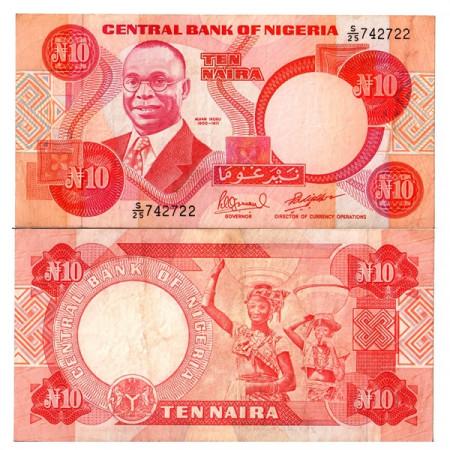 """ND (1984-2000) * Banconota Nigeria 10 Naira """"Alvan Ikoku"""" (p25e) BB+"""