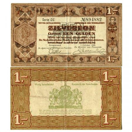 "1938 * Banconota Olanda - Paesi Bassi 1 Gulden ""Silver Note"" (p61) BB"