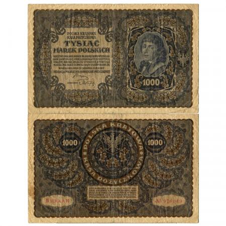 "1919 * Banconota Polonia 1000 Marek ""T Kosciuszko"" (p29) MB"