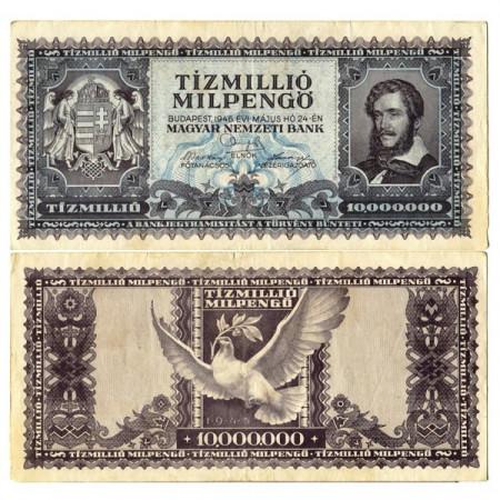 """1946 * Banconota Ungheria 10 Milioni - 10.000.000 Milpengo """"Inflation"""" (p129) SPL"""