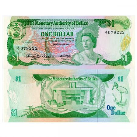 "1980 * Banconota Belize 1 Dollar ""Elisabetta II"" (p38a) FDS"